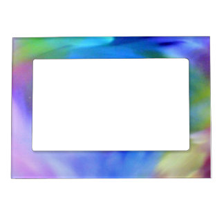 Abstract Rainbow Magnetic Picture Frame