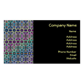 Abstract Rainbow Mandala Fractal Double-Sided Standard Business Cards (Pack Of 100)