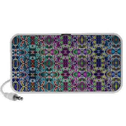 Abstract Rainbow Mandala Fractal Laptop Speakers