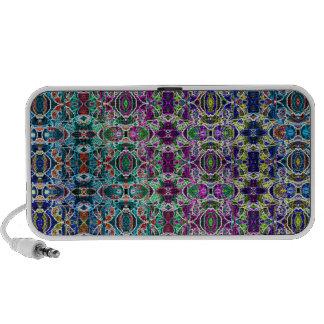 Abstract Rainbow Mandala Fractal iPhone Speaker