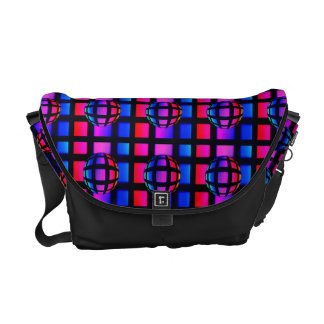 Abstract Rainbow Marble Messenger Bag