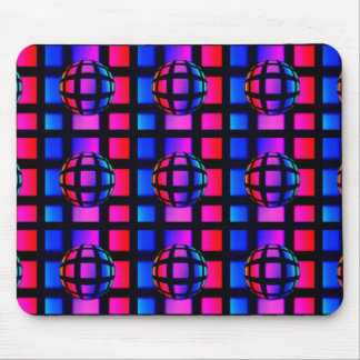 Abstract Rainbow Marble Mouse Pad