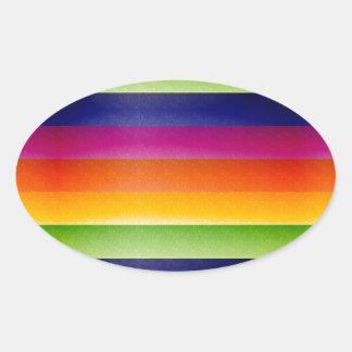 Abstract Rainbow Oval Sticker