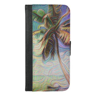 Abstract Rainbow Palm iPhone 6 Plus Wallet Case