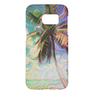 Abstract Rainbow Palm Tree Samsung Galaxy S7 Case