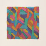 "Abstract Rainbow Print Chiffon Scarf<br><div class=""desc"">A fun,  colorful scarf.</div>"