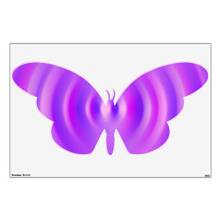 purple butterfly wall decals amp wall stickers zazzle purple flower butterfly paster home decor removable wall
