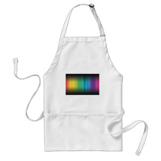 Abstract Rainbow Red Blue Greed Yellow and Orange Apron