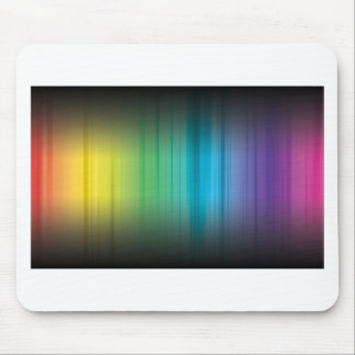 Abstract Rainbow Red Blue Greed Yellow and Orange Mouse Pad