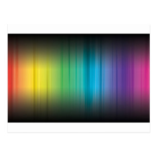 Abstract Rainbow Red Blue Greed Yellow and Orange Postcard