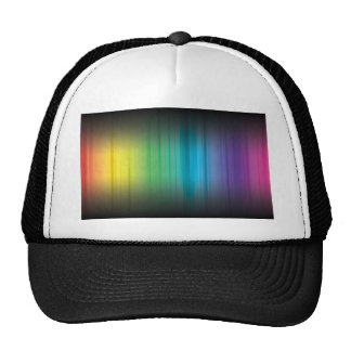 Abstract Rainbow Red Blue Greed Yellow and Orange Trucker Hat