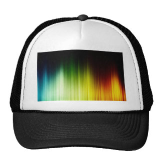 Abstract Rainbow Red Blue Greed Yellow Orange Trucker Hat