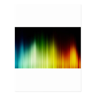 Abstract Rainbow Red Blue Greed Yellow Orange Postcard