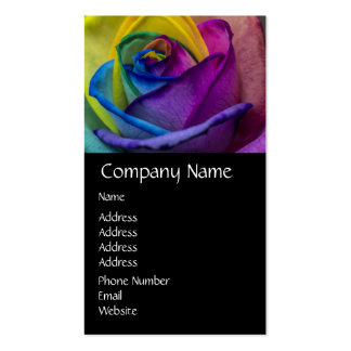 Abstract Rainbow Rose Business Card Template