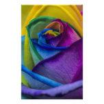Abstract Rainbow Rose Custom Stationery