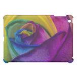 Abstract Rainbow Rose iPad Mini Cases