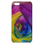 Abstract Rainbow Rose iPhone 5C Cases