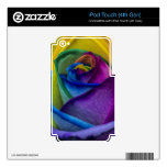Abstract Rainbow Rose Skin For iPod Touch 4G