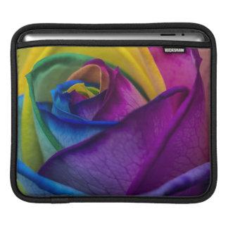 Abstract Rainbow Rose Sleeve For iPads