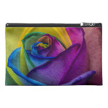 Abstract Rainbow Rose Travel Accessories Bag