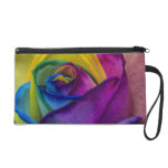 Abstract Rainbow Rose Wristlet