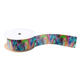 Abstract Rainbow Satin Ribbon