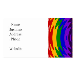Abstract Rainbow Saw Blade Ripples Colorful Design Business Card