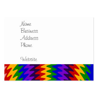 Abstract Rainbow Saw Blade Ripples Colorful Design Large Business Card