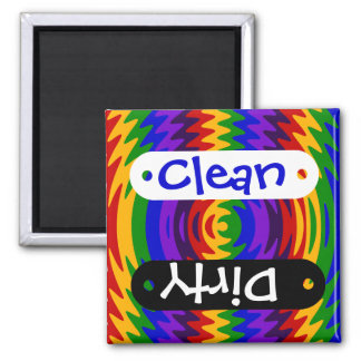 Abstract Rainbow Saw Blade Ripples Colorful Design Refrigerator Magnets