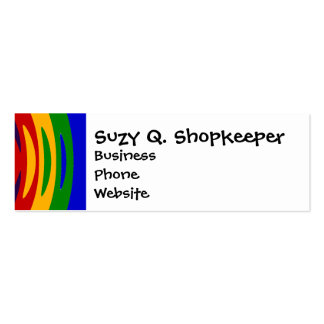 Abstract Rainbow Saw Blade Ripples Colorful Design Mini Business Card