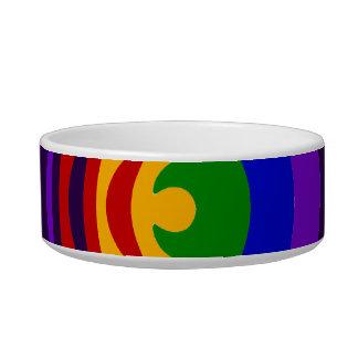 Abstract Rainbow Saw Blade Ripples Design Bowl