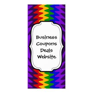 Abstract Rainbow Saw Blade Ripples Design Custom Rack Card