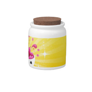 Abstract Rainbow Smile Candy Jar