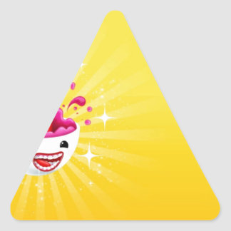 Abstract Rainbow Smile Triangle Sticker
