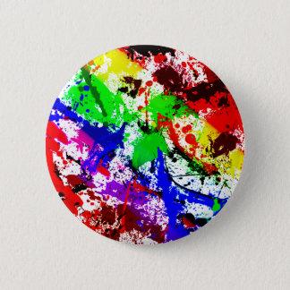 Abstract Rainbow Splatter Button