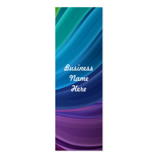 Abstract Rainbow Swirl Bookmark Business Cards