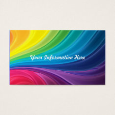 Abstract Rainbow Swirl Business Cards at Zazzle