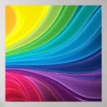 Abstract Rainbow Swirl Canvas Print