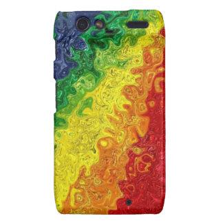 Abstract Rainbow Swirl Case Droid RAZR Case