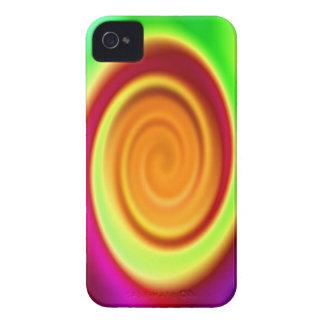 Abstract Rainbow Swirl Pattern iPhone 4 Case