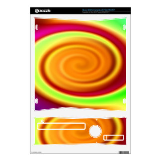 Abstract Rainbow Swirl Pattern Decals For Xbox 360 S
