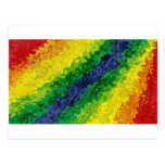 Abstract Rainbow Swirl Postcard
