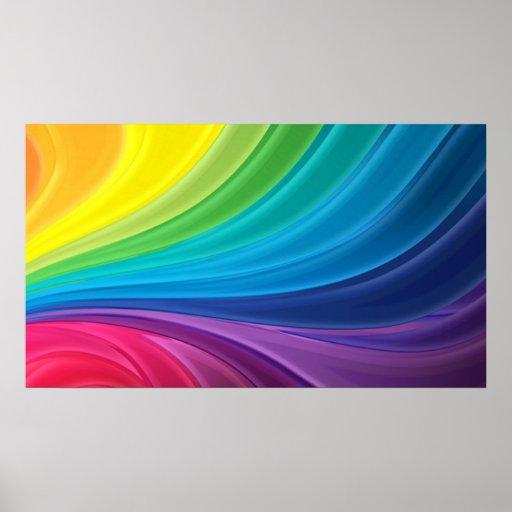 Abstract Rainbow Swirl Poster