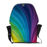 Abstract Rainbow Swirl Rickshaw Zero Messenger Bag