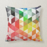 Abstract Rainbow Triangle Pattern Pillow