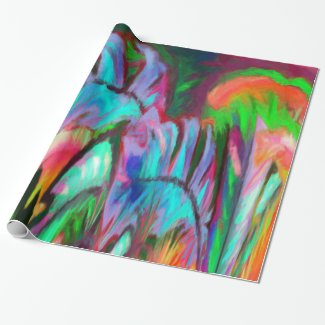 Abstract Rainbow Wrapping Paper