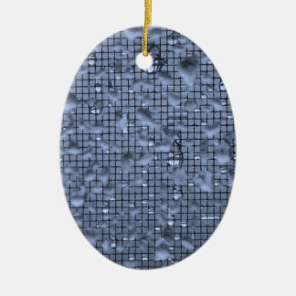 Abstract Raindrops on Window Blue Ceramic Ornament