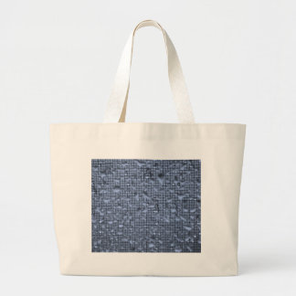Abstract Raindrops on Window Blue Large Tote Bag