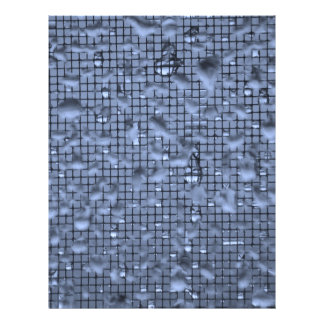 Abstract Raindrops on Window Blue Letterhead