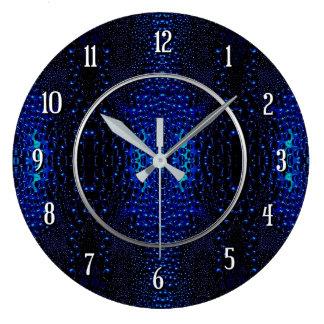 Abstract Raindrops Pattern Round Wall Clock
